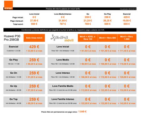 Precios Huawei P30 Pro 256gb Con Pago A Plazos Y Tarifas Orange
