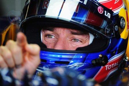 Mark Webber en box del GP de Brasil