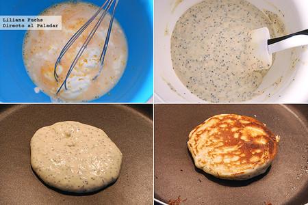 Tortitas de yogur y semillas de amapola. Receta de desayuno para el Día de la Madre