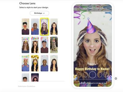 Snapchat permite a los usuarios crear sus propias máscaras personalizadas pero, previo paso por caja y por tiempo limitado