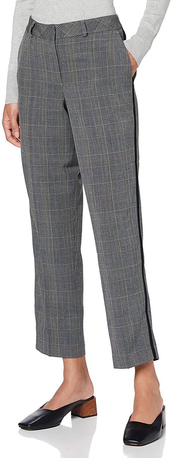 Marca Amazon - find. Pantalón de Cuadros para Mujer