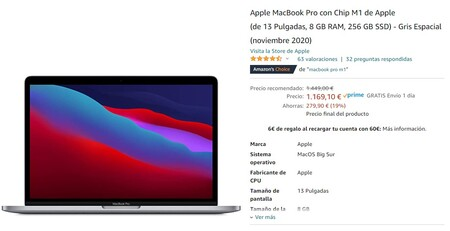 Macbook Pro M1 Amazon Oferta