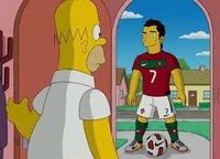 Más allá del gol de Cristiano Ronaldo a Homer Simpson