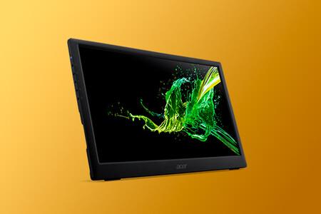 """Trabaja en movilidad más cómodamente con este monitor portátil de 15,6"""" de Acer con USB-C por 149 euros"""