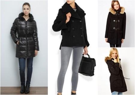 abrigos de invierno negros casual