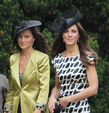 Las hermanas Middleton de boda