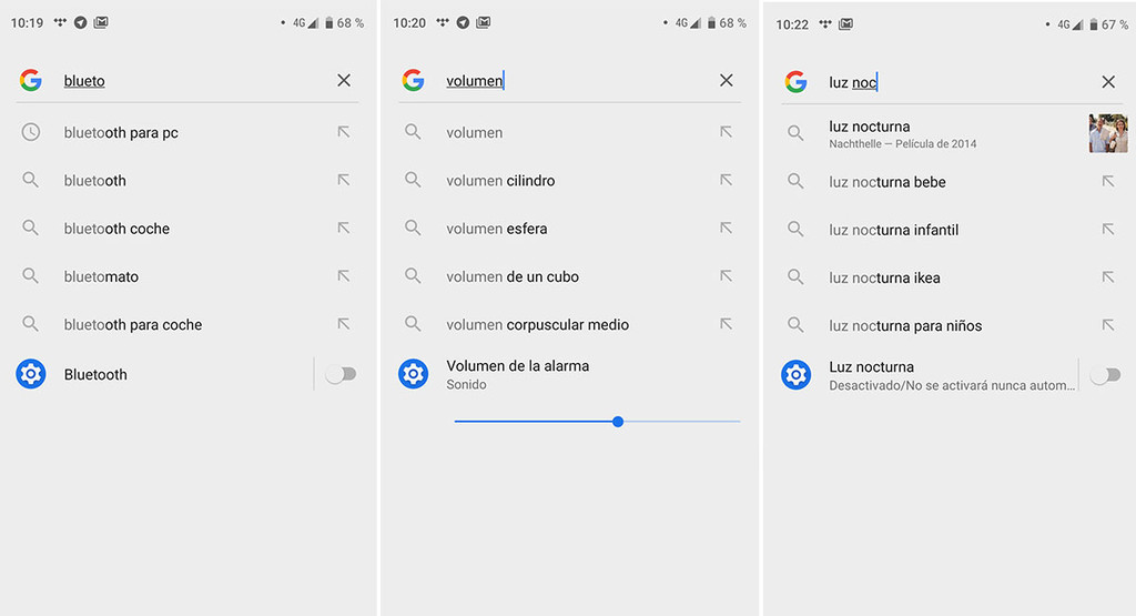 How to change Android settings from the Google search with the