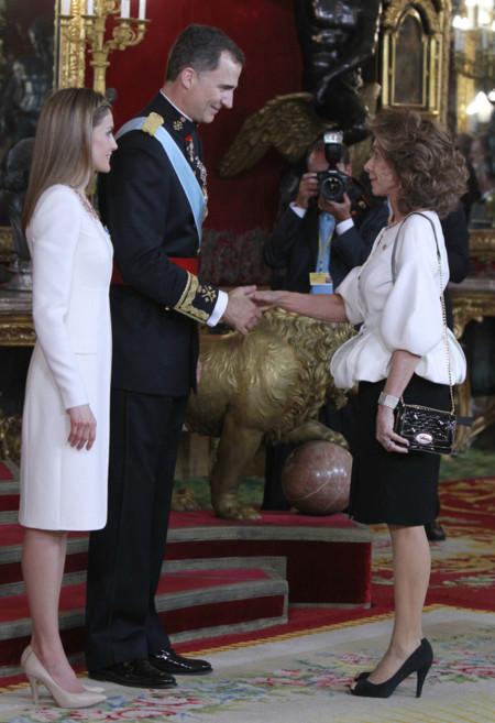 Paloma Segrelles recepcion Felipe VI Letizia