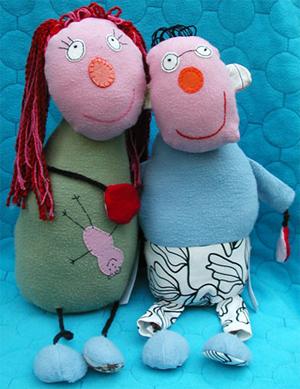 Muñecos basados en dibujos de niños