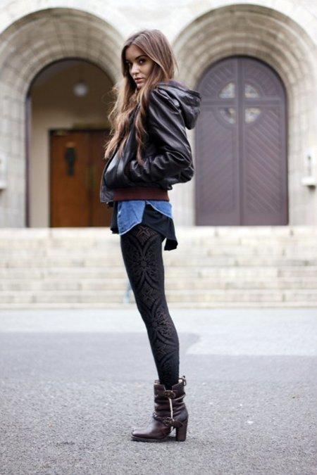 Cuero amplio Moda en la calle