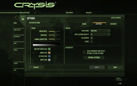 Crysis config