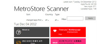 MetroStore Scanner, recopilatorio de todas las aplicaciones de la Windows Store