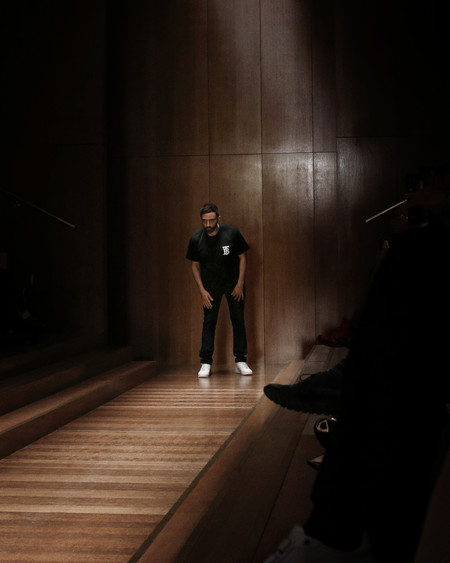 Riccardo Tisci At The Burberry Autumn Winter Show