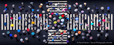 Umbrella Crossing Daniel Bonte Aerial Photography Awards