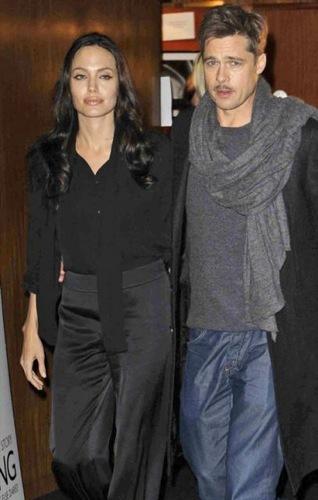 Angelina jolie y Brad Pitt en Londres en la premiere de Changeling