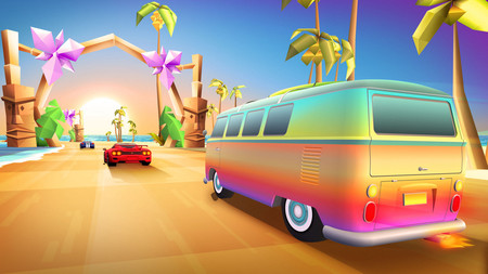 Horizon Chase Turbo, el juego de conducción inspirado en los clásicos OutRun y Top Gear, llegará a PS4 y PC en mayo