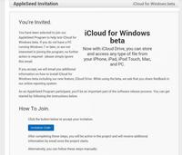 Apple comienza a enviar invitaciones para probar iCloud beta en Windows