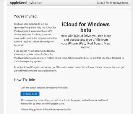 Apple comienza a enviar invitaciones para probar iCloud beta en Windows