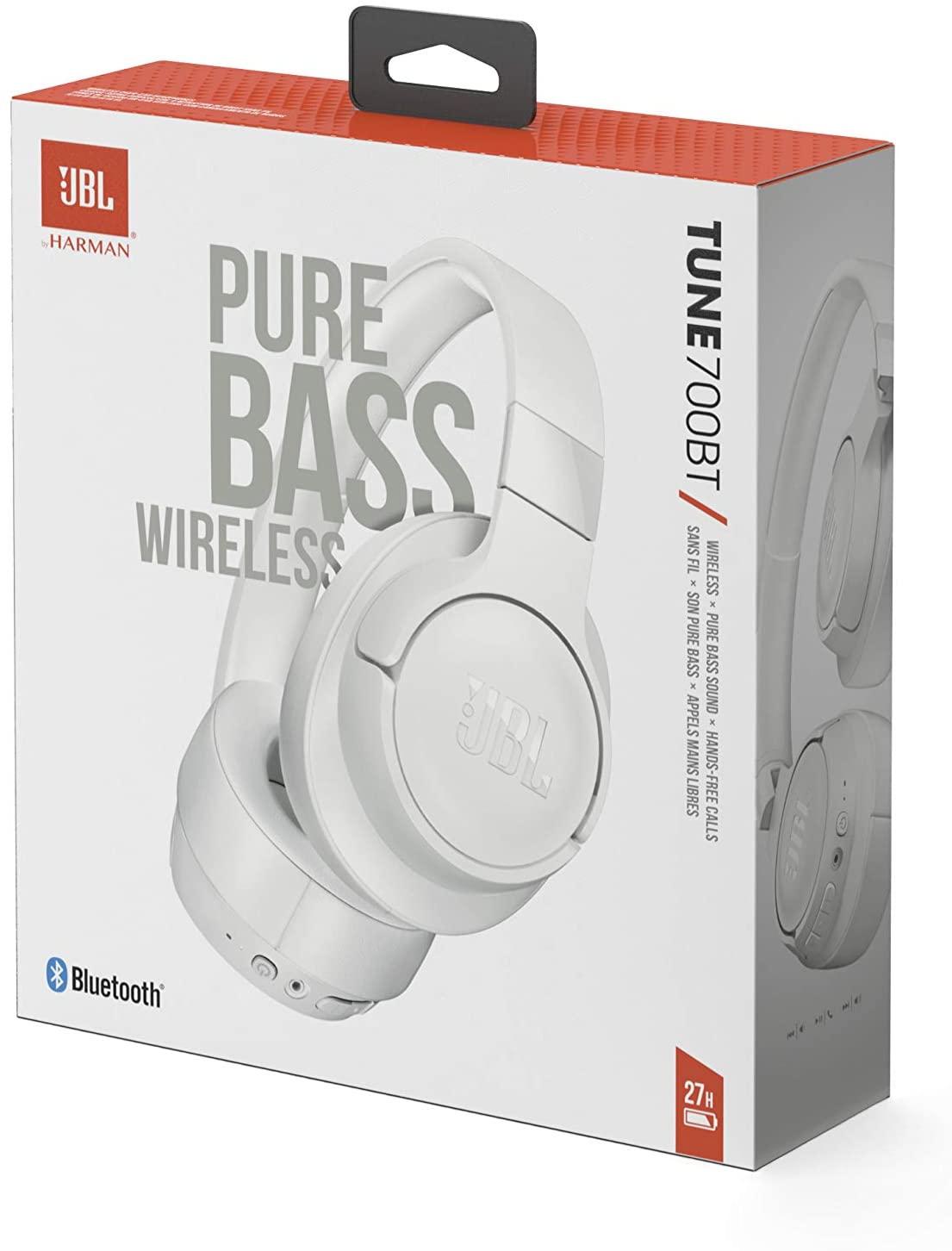 JBL Tune 700BT - Auriculares de Diadema inalámbricos - Color Blanco