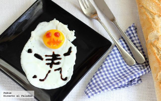 Receta de huevo frito con esqueleto de Halloween: Una divertida cena para los niños