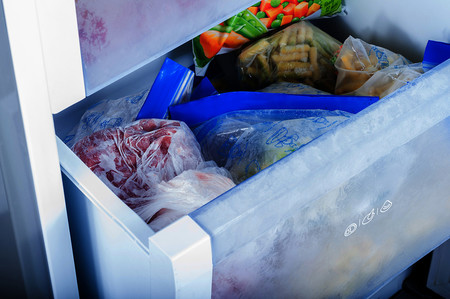 Volver a congelar comida descongelada
