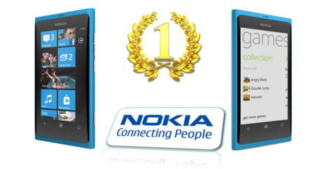 Nokia número uno vendedor WP7