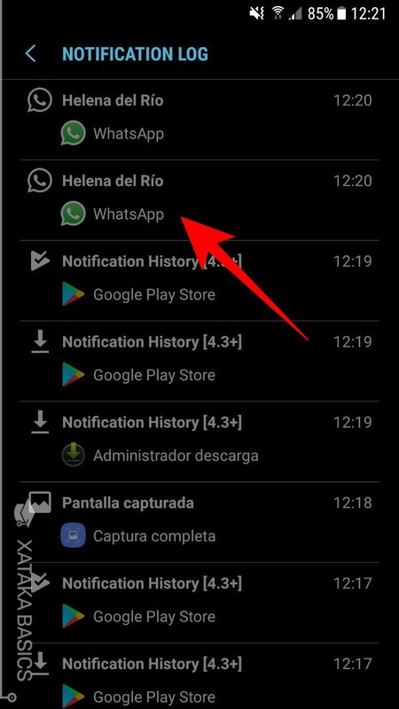 Log De Notificaciones