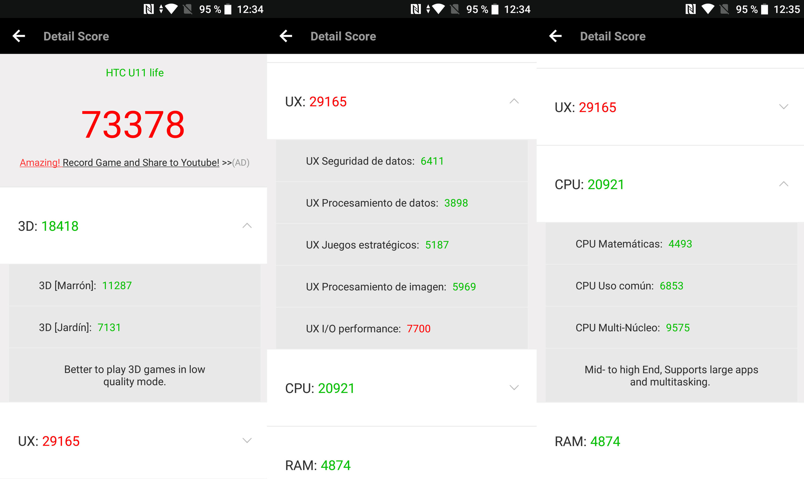 Foto de HTC U11 Life, benchmarks (2/6)