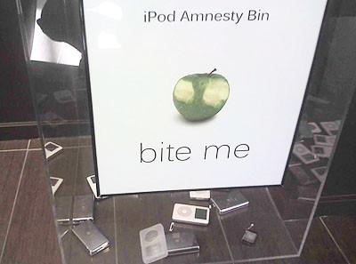 La papelera de reciclaje de iPods en los cuarteles de Microsoft