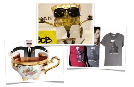Collage camiseta, tea y Bob Esponja