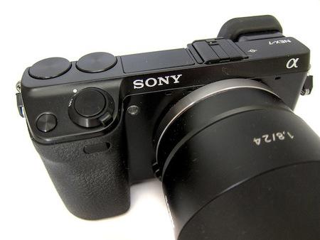 sony nex-7 con objetivo