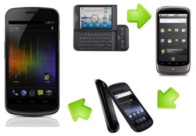 Evolución del teléfono de Google: del G1 al Galaxy Nexus