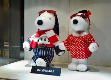 Snoopy se viste de alta costura