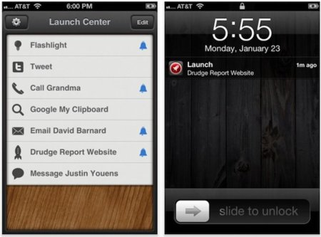Launch Center, una forma diferente de crear alarmas