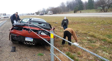Dolorpasión, El Chevrolet Corvette Z06 rebanado por cables de acero