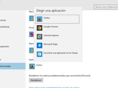 ¿Es difícil cambiar las aplicaciones predeterminadas en Windows 10? Mozilla cree que sí