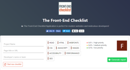 Front End Checklist