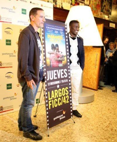 Miguel Alcantud y uno de los protagonistas de Diamantes Negros en el FICC