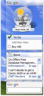 Google Desktop 4.5 soporta transparencias