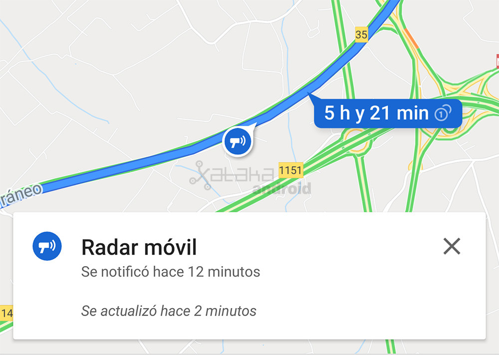 The radar of Google Maps come to Spain together with the report of incidents of traffic Waze