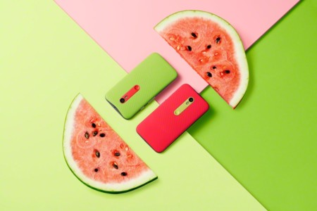 Moto G Green Red Back Watermelon
