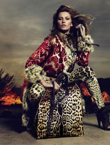 Gisele Bündchen como una leoparda pero eso sí, vestida de Cavalli