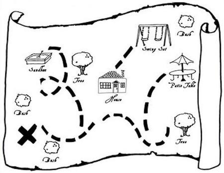 mapa del tesoro niños