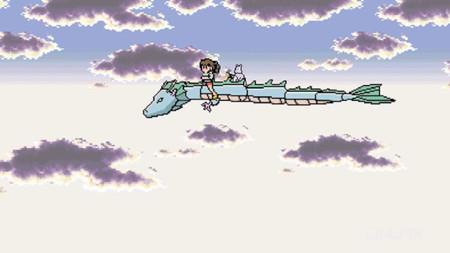 Así sería un videojuego del viaje de Chihiro en 8 bits