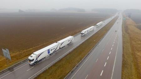 Convoy Camiones Autonomos