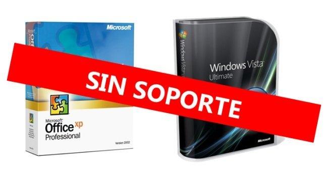 Vista SP1 y Office XP sin soporte