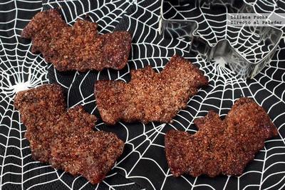Murciélagos de canela. Receta de Halloween