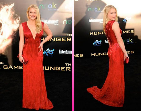 Leven Rambin hunger games premiere