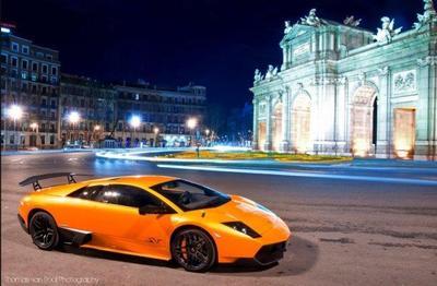 Lamborghini Murcielago LP670-4 SV en Madrid. ¡Ole toro!
