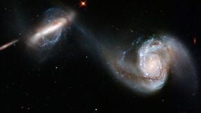 El Hubble nos muestra el choque de dos galaxias